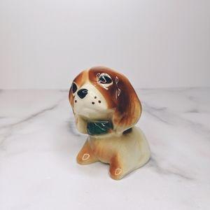 Vintage beagle mini vase toothpick holder